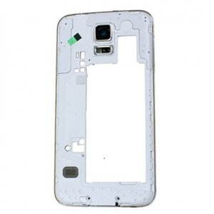 Middle Frame for Samsuang Galaxy S5 G900 White with White Ear Speaker Mesh