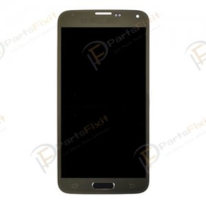 Gold LCD Screen Digitizer Assembly for Samsung Galaxy S5 G900  All Versions