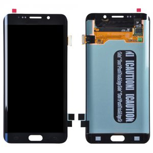 LCD with Digitizer Assembly for Samsung Galaxy S6 Edge+ Refurbished Black