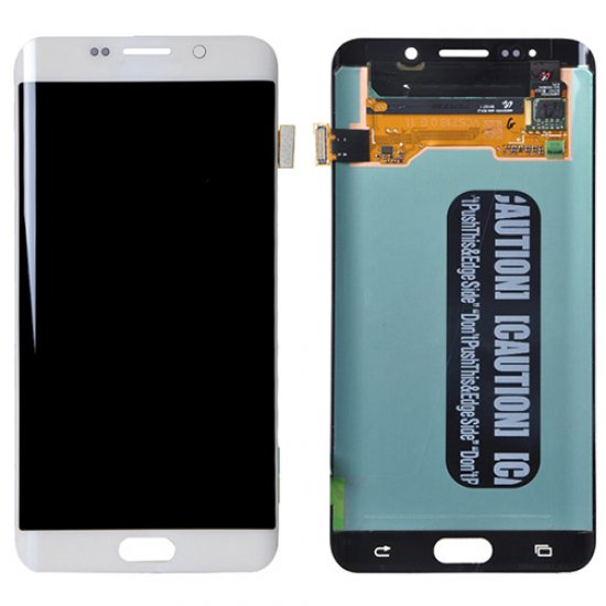 LCD with Digitizer Assembly for Samsung Galaxy S6 Edge+ Refurbished White