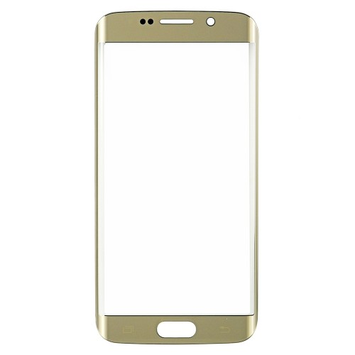 Original for Samsung Galaxy S6 Edge Front Glass Lens Gold