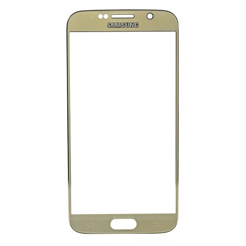 For Samsung Galaxy S6 Front Glass Lens Gold High C...