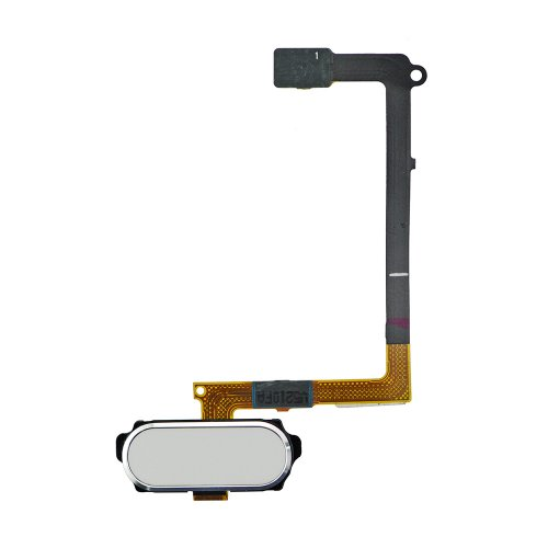 For Samsung Galaxy S6 Home Button with Flex Cable White