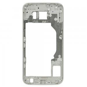 For Samsung Galaxy S6 Rear Housing Frame Silver