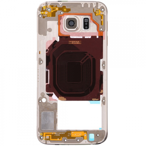 Rear Housing Frame with Small Parts for Samsung Galaxy S6/G920F Gold Original