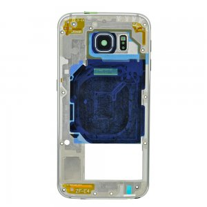 Rear Housing Frame with Small Parts for Samsung Galaxy S6/G920F Silver Original