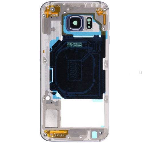 Rear Housing Frame with Small Parts for Samsung Galaxy S6/G920F Grey Original