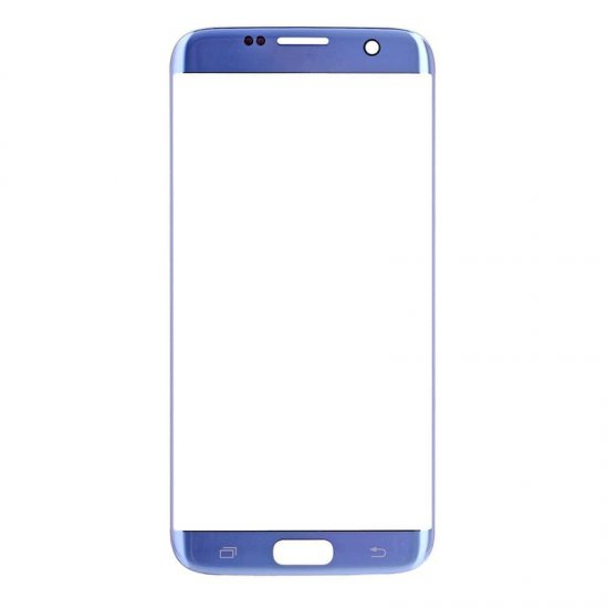 Front Glass Lens for Samsung Galaxy S7 Edge Coral Blue OEM