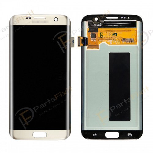 LCD and Digitizer Assembly for Samsung Galaxy S7 Edge Gold