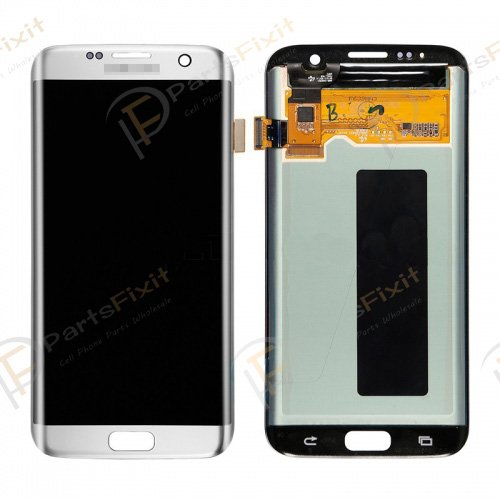 LCD and Digitizer Assembly for Samsung Galaxy S7 Edge Silver
