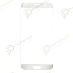 Front Glass Lens for Samsung Galaxy S7 Edge Silver OEM
