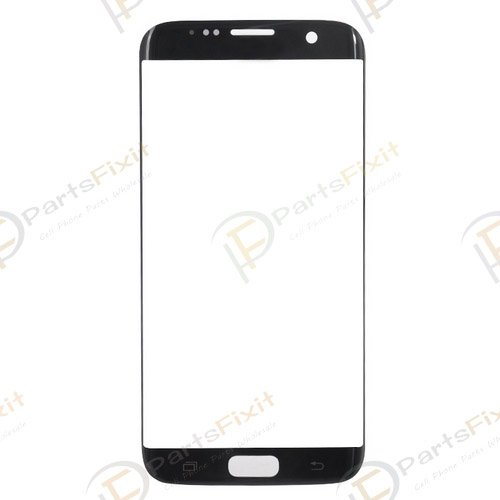 Front Glass Lens for Samsung Galaxy S7 Edge Black OEM