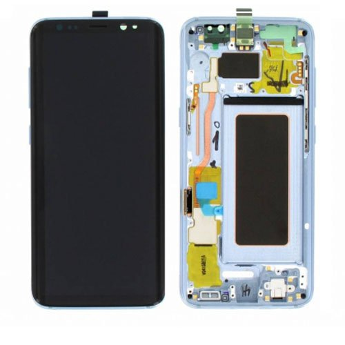 Screen Replacement With Frame for Samsung Galaxy S8 Blue Original