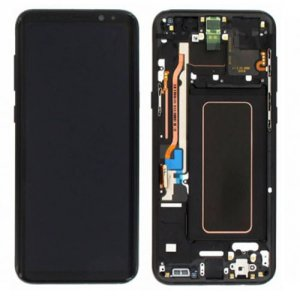 Screen Replacement With Frame for Samsung Galaxy S8 Plus Black origina