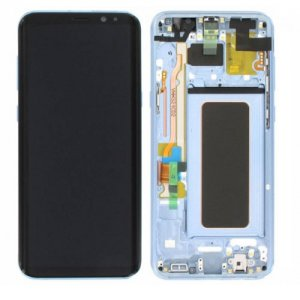 Screen Replacement With Frame for Samsung Galaxy S8 Plus Blue  origina