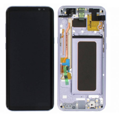 Screen Replacement With Frame for Samsung Galaxy S8 Plus Purple  origina