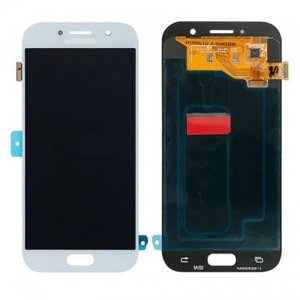 LCD with Digitizer Assembly for  Samsung Galaxy A520 White/Blue  Original