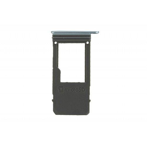 SD Card Tray for Samsung Galaxy A520 White/Blue Original
