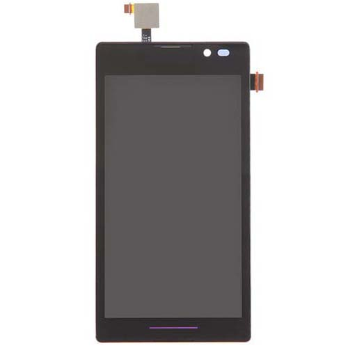 LCD Screen With Frame for Sony Xperia C S39h Black