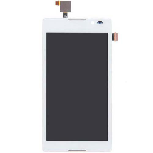 LCD Screen With Frame for Sony Xperia C S39h White