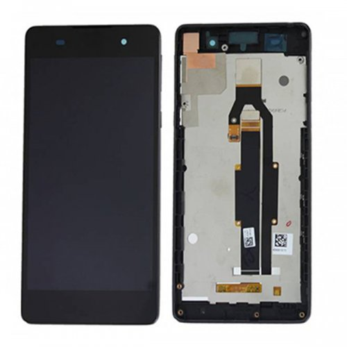 LCD Screen With Frame for Sony Xperia E5 Black