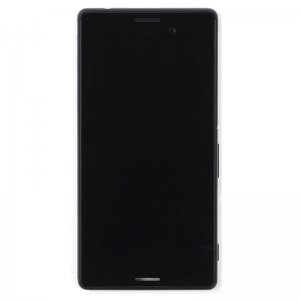 LCD Screen With Frame for Sony Xperia M4 Aqua  Black