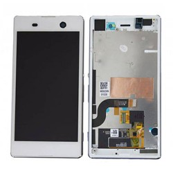 LCD Screen With Frame for Sony Xperia M5 White