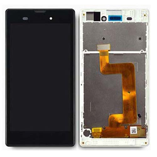 LCD Screen  With Frame for Sony Xperia T3 Black