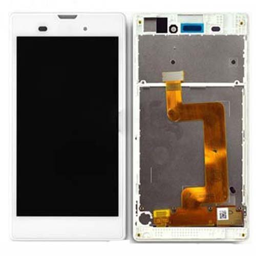 LCD Screen  With Frame for Sony Xperia T3 White