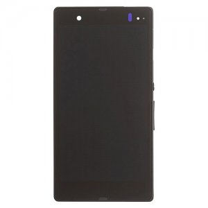 LCD Screen Display Assembly With Frame Replacement for Sony Xperia Z L36h Black