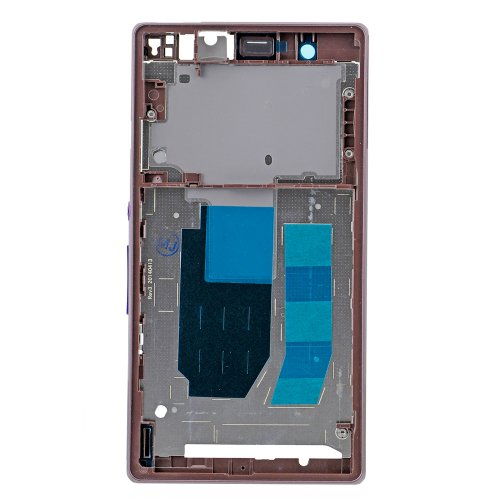 Front Frame for Sony Xperia Z Purple Original