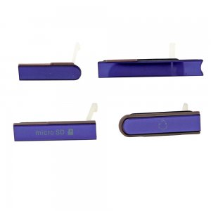 SD Card Cap Set for Sony Xperia Z L36H Purple