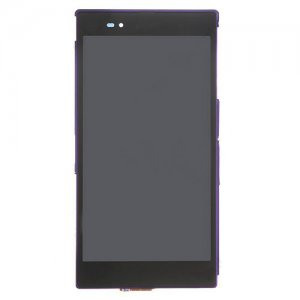 LCD Screen  with Frame for Sony Xperia Z Ultra XL39h/C6802/C6806 Purple