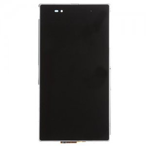 LCD Screen with Frame for Sony Xperia Z Ultra XL39h/C6802/C6806 White