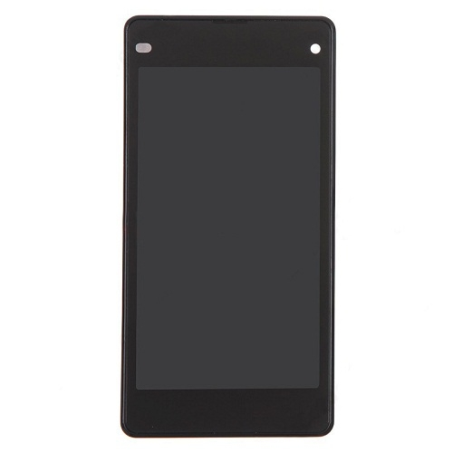 LCD with Frame for Sony Xperia Z1 Copmact D5503 Bl...