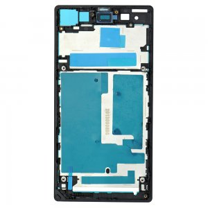 Front Frame for Sony Xperia Z1 Black Original