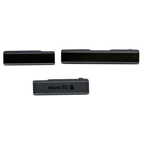 SD Card Cap Set (3 pcs/set) for Sony Xperia Z1 Bla...
