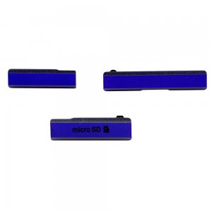 SD Card Cap Set (3 pcs/set) for Sony Xperia Z1 Purple