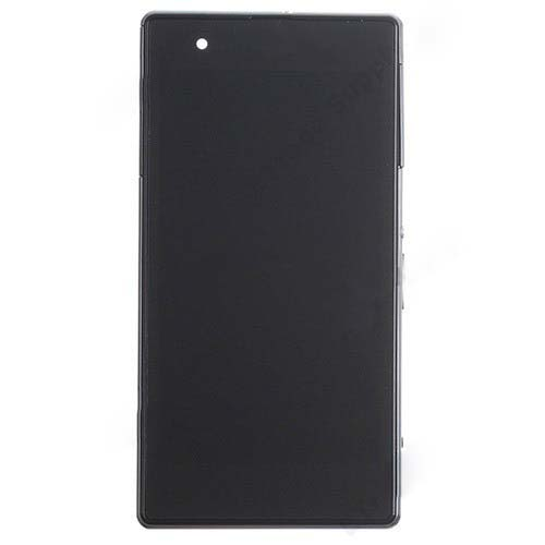 LCD Screen With Frame for Sony Xperia Z1S Black