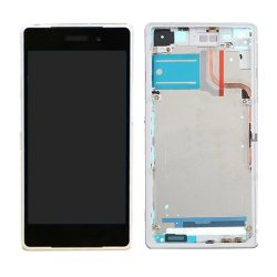 For Sony Xperia Z2 LCD Screen Display Assembly with Frame White OEM 3G Version