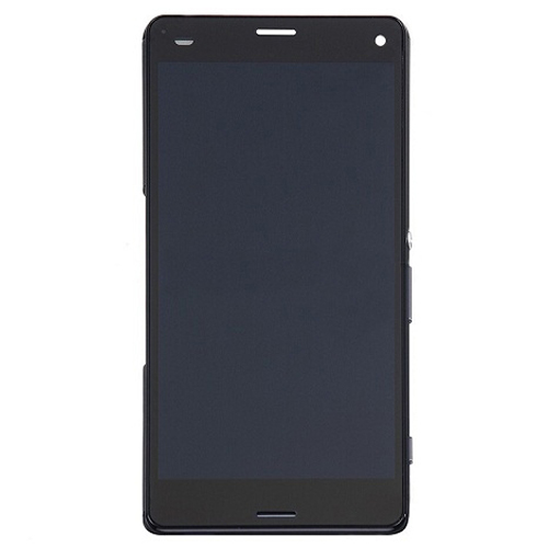 LCD with Frame for Xperia Z3 Mini Black High Copy
