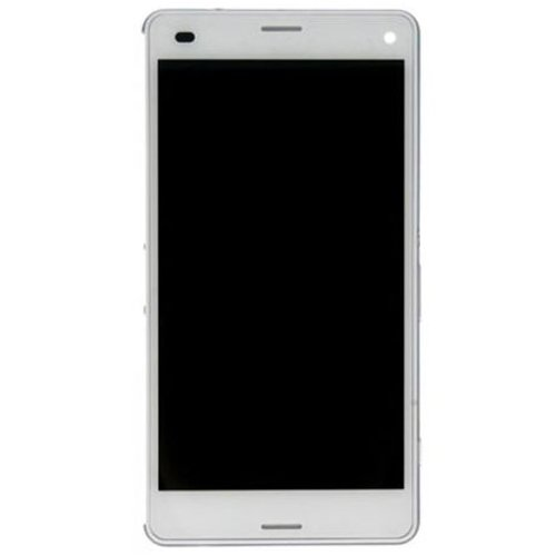 LCD with Frame for Xperia Z3 Mini White OEM