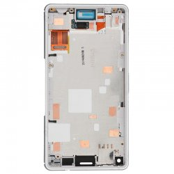 LCD with Frame for Xperia Z3 Mini White High Copy