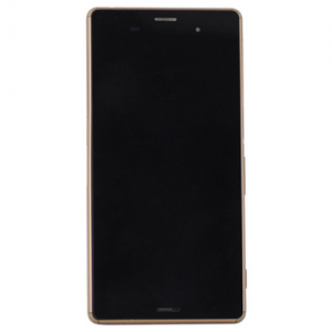 LCD Digitizer Assembly with Frame for Xperia Z3 Copper OEM