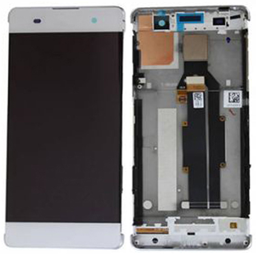 LCD Screen With Frame for Sony Xperia XA White