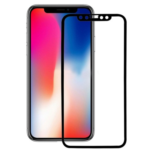 For iPhone X 3D Tempered Glass White/Black