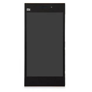 LCD Screen with Frame for Xiaomi Mi3 WCDMA Version Black