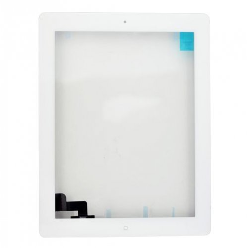 For iPad 2 Touch Screen Digitizer Assembly (include Front Camera Holder,Home Button,Home Button Holder,3M Adhesive)-White
