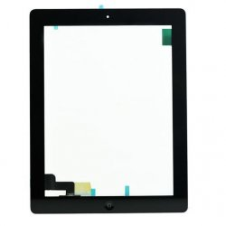 For iPad 2 Touch Screen Digitizer Assembly (include Front Camera Holder,Home Button,Home Button Holder,3M Adhesive)-Black