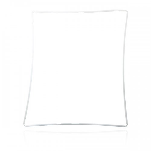White Touch Digitizer Support Frame Bezel Replacement for iPad 2 Gen